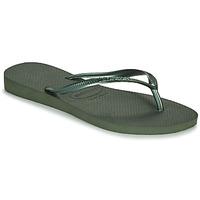 Schoenen Dames Slippers Havaianas SLIM Groen