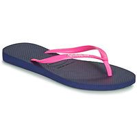 Schoenen Dames Slippers Havaianas SLIM LOGO Marine