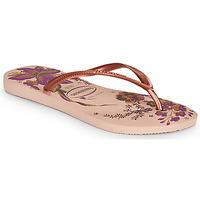 Schoenen Dames Slippers Havaianas SLIM ORGANIC Roze