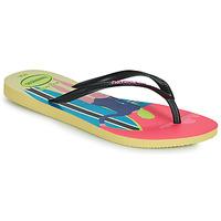 Schoenen Dames Slippers Havaianas SLIM STYLE MIX Geel