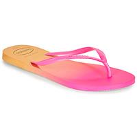 Schoenen Dames Slippers Havaianas SLIM GRADIENT Roze / Geel