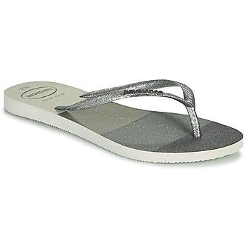 Schoenen Dames Slippers Havaianas SLIM PALETTE GLOW Wit