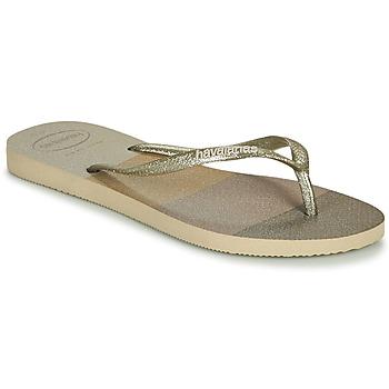 Schoenen Dames Slippers Havaianas SLIM PALETTE GLOW Beige