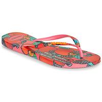 Schoenen Dames Slippers Havaianas SLIM SUMMER Roze / Rood