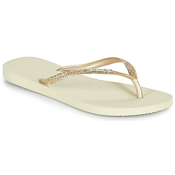 Schoenen Dames Slippers Havaianas SLIM GLITTER II Beige