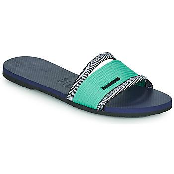 Schoenen Dames Leren slippers Havaianas YOU TRANCOSO Blauw