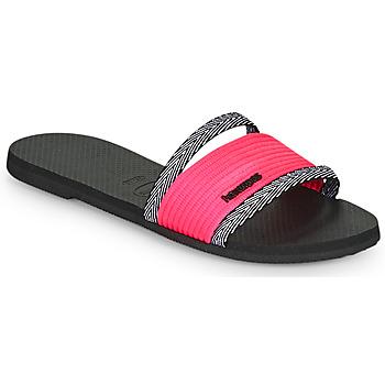 Schoenen Dames Leren slippers Havaianas YOU TRANCOSO Zwart