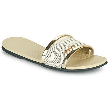 Schoenen Dames Leren slippers Havaianas YOU TRANCOSO PREMIUM Beige