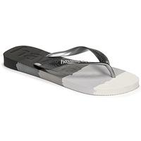 Schoenen Slippers Havaianas TOP LOGOMANIA MULTICOLOR Zwart