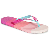 Schoenen Dames Slippers Havaianas TOP LOGOMANIA MULTICOLOR Roze