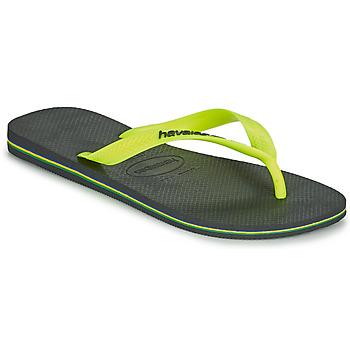 Schoenen Heren Slippers Havaianas BRASIL LOGO Grijs
