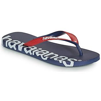 Schoenen Slippers Havaianas TOP LOGOMANIA HIGHTECH Blauw