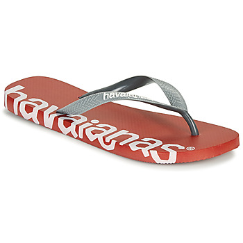 Schoenen Slippers Havaianas TOP LOGOMANIA HIGHTECH Rood