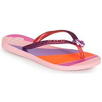 Schoenen Meisjes Slippers Havaianas KIDS SLIM GLITTER II Roze