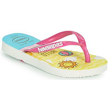Schoenen Meisjes Slippers Havaianas KIDS SLIM HELLO KITTY Wit