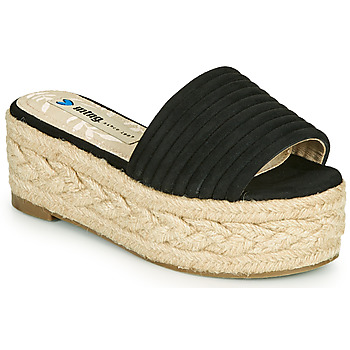 Schoenen Dames Leren slippers MTNG 51118 Zwart
