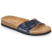 Schoenen Dames Leren slippers Les Petites Bombes ROSA Blauw