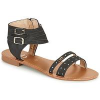 Schoenen Dames Sandalen / Open schoenen Les Petites Bombes BELIZE Zwart