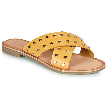 Schoenen Dames Leren slippers Les Petites Bombes BELMA Geel