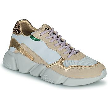 Schoenen Dames Lage sneakers Serafini OREGON Wit / Goud
