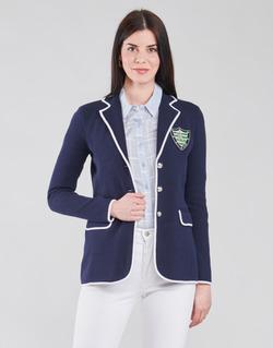 Textiel Dames Jasjes / Blazers Lauren Ralph Lauren AYELEE Blauw / Wit
