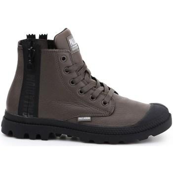 Schoenen Dames Hoge sneakers Palladium Manufacture Pampa Ubn Zips Marron