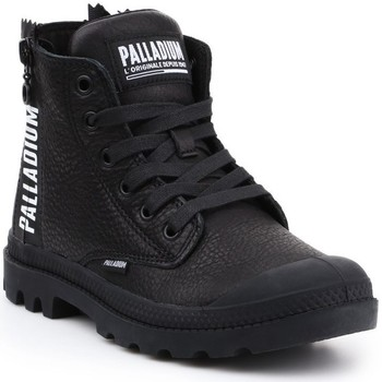 Schoenen Dames Hoge sneakers Palladium Manufacture Pampa Ubn Zips Noir