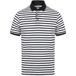 Textiel Heren Polo's korte mouwen Front Row FR230 Wit/Zwaar