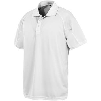 Textiel Polo's korte mouwen Spiro SR288 Wit