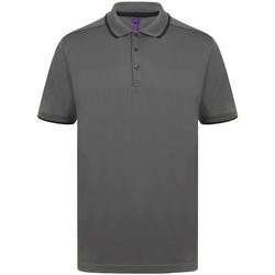 Textiel Heren Polo's korte mouwen Henbury HB485 Houtskool/zwart