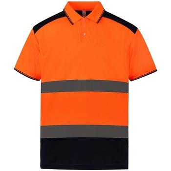 Textiel Polo's korte mouwen Yoko YK017 Oranje/Zwaar