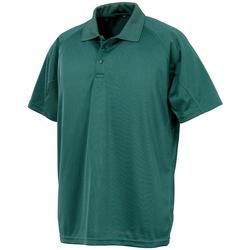 Textiel Polo's korte mouwen Spiro SR288 Fles groen