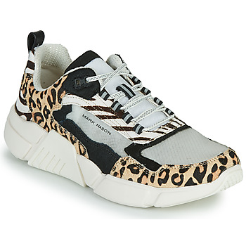 Schoenen Dames Lage sneakers Skechers BLOCK - WEST Beige