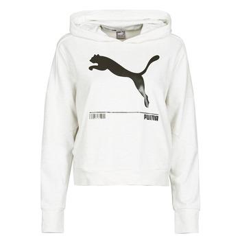 Textiel Dames Sweaters / Sweatshirts Puma NUTILITY HOODY Wit