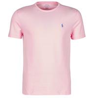 Textiel Heren T-shirts korte mouwen Polo Ralph Lauren T-SHIRT AJUSTE COL ROND EN COTON LOGO PONY PLAYER Roze