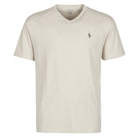 Textiel Heren T-shirts korte mouwen Polo Ralph Lauren T-SHIRT AJUSTE COL V EN COTON LOGO PONY PLAYER Beige