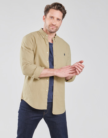 Polo Ralph Lauren CHEMISE CINTREE SLIM FIT EN OXFORD LEGER TYPE CHINO COL BOUTONNE
