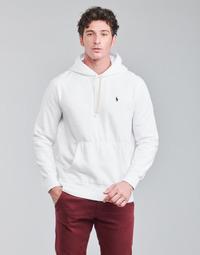 Textiel Heren Sweaters / Sweatshirts Polo Ralph Lauren SWEAT A CAPUCHE MOLTONE EN COTON LOGO PONY PLAYER Wit