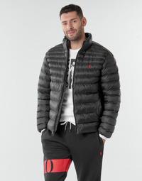 Textiel Heren Dons gevoerde jassen Polo Ralph Lauren BLOUSON DOUDOUNE EARTH POLO EN NYLON RECYCLE ET PRIMALOFT LOGO P Zwart