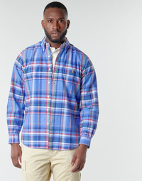 Textiel Heren Overhemden lange mouwen Polo Ralph Lauren CHEMISE AJUSTEE EN OXFORD COL BOUTONNE  LOGO PONY PLAYER MULTICO Multicolour