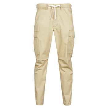 Textiel Heren Cargobroek Polo Ralph Lauren SHORT PREPSTER AJUSTABLE ELASTIQUE AVEC CORDON INTERIEUR LOGO PO Beige