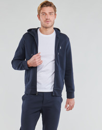 Textiel Heren Sweaters / Sweatshirts Polo Ralph Lauren SWEATSHIRT A CAPUCHE ZIPPE EN JOGGING DOUBLE KNIT TECH LOGO PONY Marine