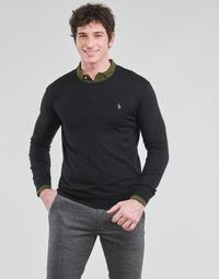 Textiel Heren Truien Polo Ralph Lauren PULL COL ROND AJUSTE EN COTON PIMA LOGO PONY PLAYER Zwart