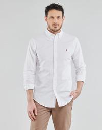 Textiel Heren Overhemden lange mouwen Polo Ralph Lauren CHEMISE AJUSTEE EN OXFORD COL BOUTONNE  LOGO PONY PLAYER MULTICO Wit