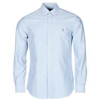 Textiel Heren Overhemden lange mouwen Polo Ralph Lauren LORENZ Blauw