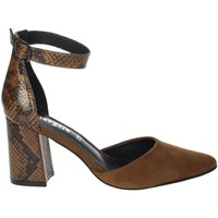 Schoenen Dames pumps Gold & Gold GD267 Brown leather
