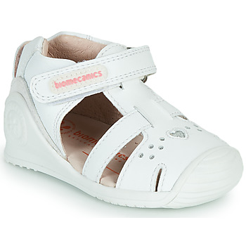 Schoenen Meisjes Sandalen / Open schoenen Biomecanics 212104 Wit / Zilver