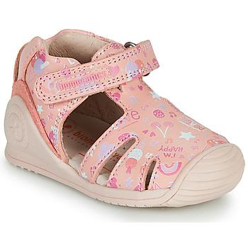 Schoenen Meisjes Sandalen / Open schoenen Biomecanics 212107 Roze