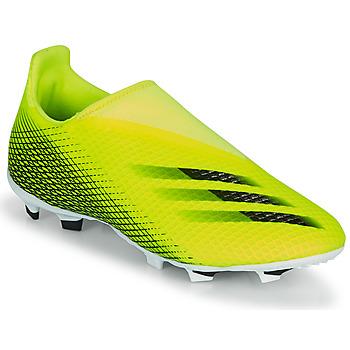 Schoenen Kinderen Voetbal adidas Performance X GHOSTED.3 LL FG J Geel / Zwart
