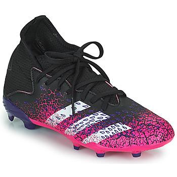 Schoenen Kinderen Voetbal adidas Performance PREDATOR FREAK .3 F Zwart / Roze